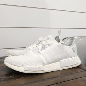 Adidas NMD R1 All White - Men's Size 13